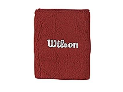 Wilson WR5600390 Muñequera, Unisex Adulto, Rojo, NS: Amazon ...