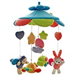 SHILOH Baby Newborn Crib Mobile Plush Canopy Toys(Without Musical Box or arm) (Bule Sky)