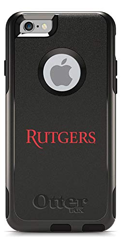Rutgers Design on Black OtterBox Commuter Case for iPhone 6 and iPhone 6s