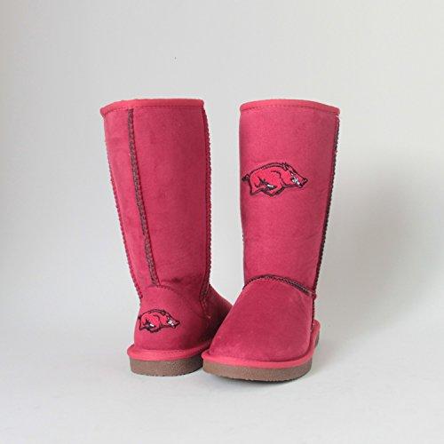 NCAA Arkansas Razorbacks Women's Varsity Boots, Red, 9