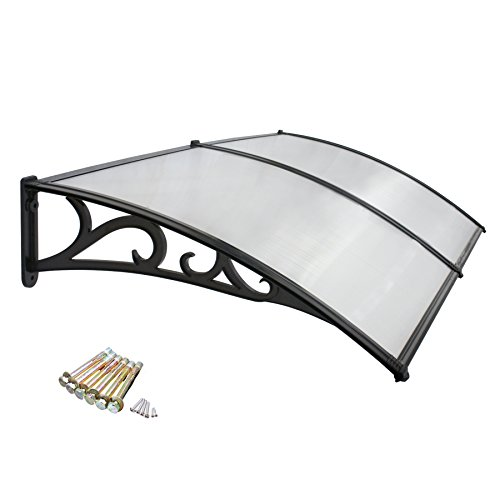 "F2C 40""x 80"" DIY Outdoor Polycarbonate Front Door Window Awning Patio Frey Board Cover Canopy (Frame of The Pattern)"