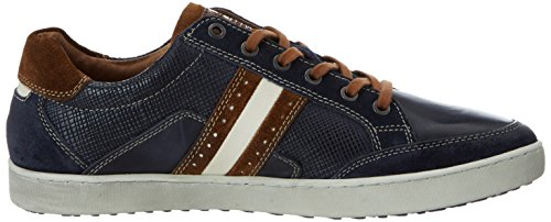 Australian Herren Lombardo Leather Sneakers Blau (Blue-Tan)