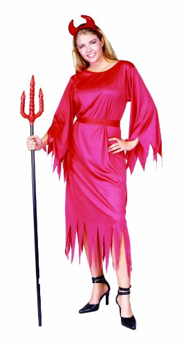 [RG Costumes Classic Devil Lady, Red, One Size] (Devil Halloween Costumes For Women)