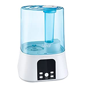 Ultrasonic Cool Mist Humidifier For Bedroom – 3.5L Capacity Excellent For Adults, Kids, & Baby in Dry Winter Air – Built-In Humidistat, LED Display, Auto Shut-Off & 7 Night Light Colors