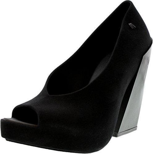 Melissa Womens Boho Ankle-High Pump Black Flocked elSnjm9dEC
