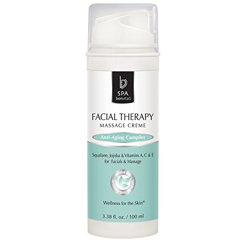 Bon Vital' Facial Therapy Crème, Professional Massage Cream for Anti-Aging Facial or Geriatric Massages, Face Moisturizer with Vitamins to Restore & Smooth Skin, Reduce Appearance of Wrinkles, 3.38 oz