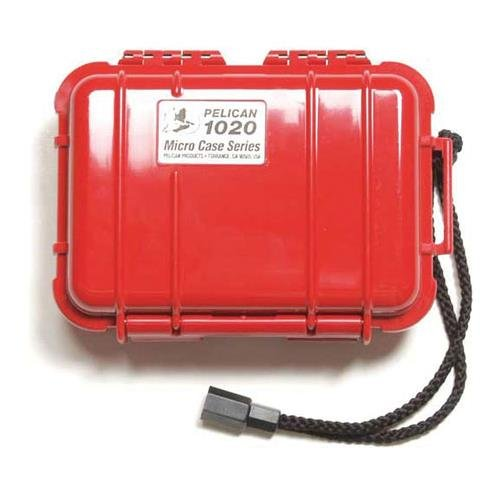 Price comparison product image Pelican 1020 Watertight Hard Micro Case with Rubber Liner - Red
