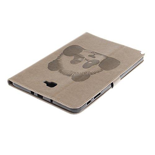 JIALUN-Personality teléfono shell Para Samsung Galaxy TAB Tab A 10.1 SM-P580 / P580 Funda de la caja, Horizontal Flip Folio Funda de la cartera del caso Cuero de la PU superior con textura de grabació Gray