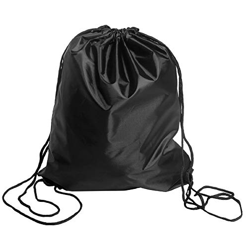 - BINGONE Drawstring Bag Folding Backpack Storage Black