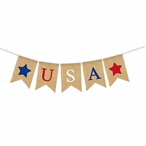 USA Banner Bunting Americana Decorations Patriotic Star Banner