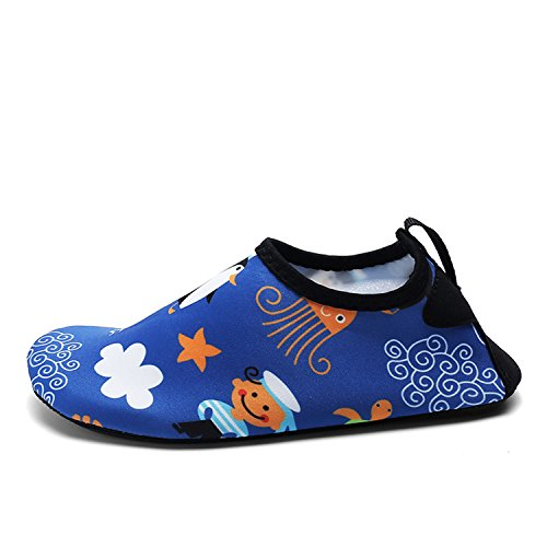 OUYAJI Kids Boys Girls Cute Breathable Quick Dry Shoe Toddler Beach Play Park Garden Children Pool Home Slippers Blue 24/25