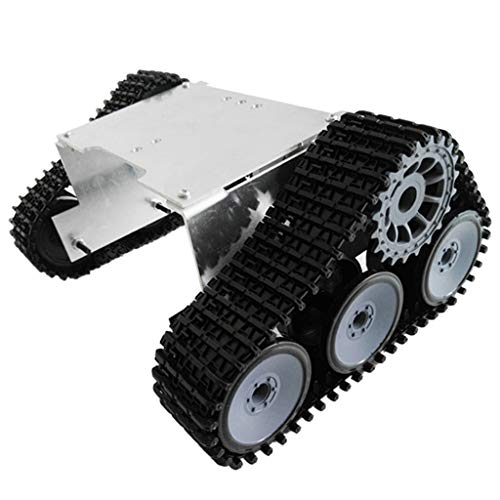 (DYNWAVE Smart Car Platform Tracked Robot Metal Aluminium Alloy Tank Chassis for Arduino DIY Educational, Easy Science Assembly Kits)