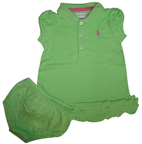 Ralph Lauren Polo Infant Girls 2 Piece Short Sleeve Dress Key Lime (12 Months)