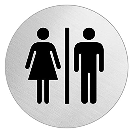 Amazon.com: Ofform Cartel para puerta L Restroom Sign