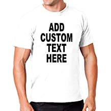 Add Your Own Custom Text Name or Message on Your Personalized T-Shirt