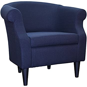 Amazon Com Upholstered Chair Barrel Back Armchair