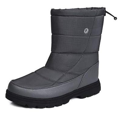 7c3d651ce78ad9 Amazon   [EXEBLUE] スノーシューズ メンズ レディース スノーブーツ 長靴 防水 防寒 防滑の綿靴 冬用 雪靴 裏起毛 通勤 通学用  男女兼用   ブーツ