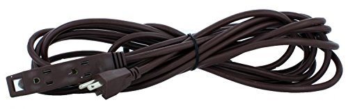 Holiday Lighting Outlet Extension Cord, Brown 25' Prong, Christmas Light, Holiday Cord, Indoor Outdoor by Holiday Lighting Outlet