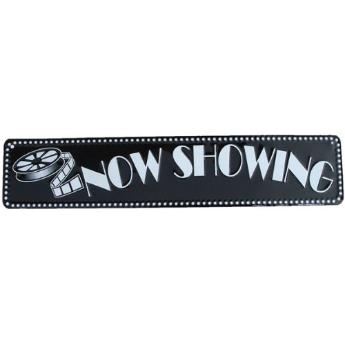 NOW SHOWING movie theatre sign home theater decor (Home Theater Supplies compare prices)