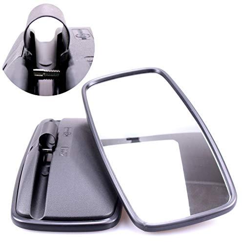 TRUCK DUCK® 2x Universal Rückspiegel 410x205mm Außenspiegel Seitenspiegel Set für LKW Bus Wohnmobil Traktor Bagger