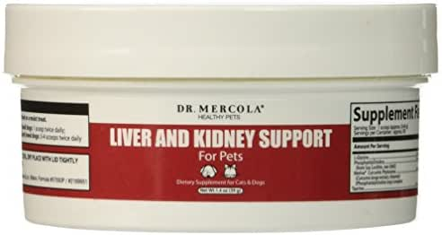 Dr. Mercola, Liver and Kidney Support Pet Supplement, for Cats and Dogs, Maintains Healthy Liver and Kidney Function, 1.37 oz (39 g), Non GMO, Gluten Free