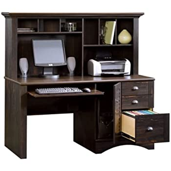 harbor view computer desk with hutch antiqued paint finish