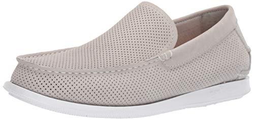 - Margaritaville Men's Island Reserve Vintage Perforated Leather Slip On Shoe Boat, Light Grey, 11.5 Regular US