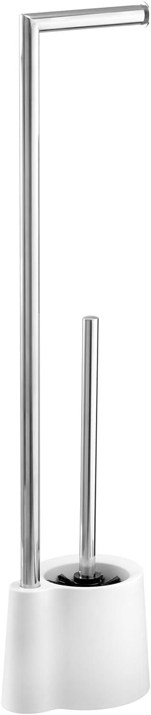 Wenko Stand garnitur Avola porta scopino 16/x 13/x 70/cm Bianco Polipropilene