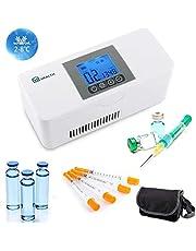 BelievE Refrigerador de Medicamento Portátil Nevera de Insulina con Rango de Temperatura de Refrigeración: 2~20°C Ideal para Viaje de Tamaño Estilo de transmisión de Voz Fichas importadas
