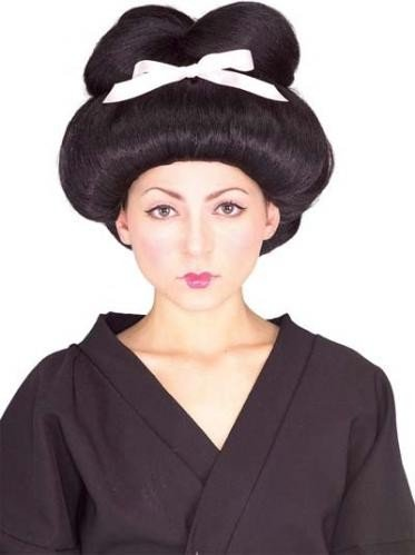 Rubie's Costume Co Geisha Girl Adult Wig Black / White One Size