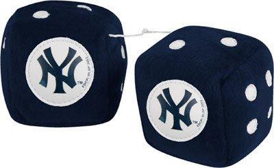 NEW YORK YANKEES Team Logo Pair of FUZZY DICE (Mlb Pen Kit)