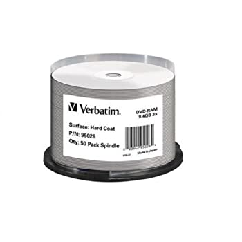 Verbatim Dvd-ram 9.4gb 3x Double-sided 50pk Spindle 95026 1