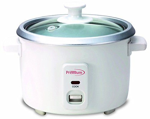 Premium PRC1235 6 Cup Rice Cooker, White