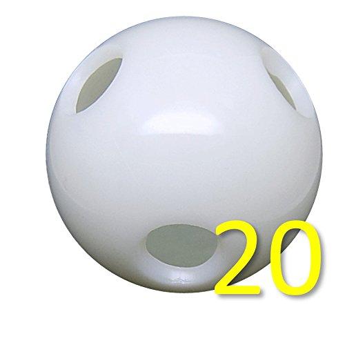 Power Force Flex Baseball - 2.9'' Dia. 70 gr - Wiffle/Hole Ball for Batting Practice - Mega Pack (20 Flex Baseballs) by Power Force Training Balls