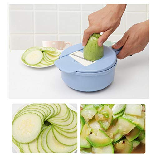 Yerflew 9-in-1 Multifunctional Wheat Straw Slicer Food Chopper Kitchen Gadgets Potato Grater Fruit & Vegetable Tools