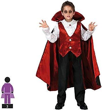Atosa-95281 Halloween Disfraz Vampiro 3-4, Color rojo, 3 A 4 Años ...