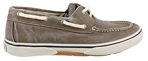 Men's Sperry, Halyard Lace up Boat Shoe CHOCOLATE - Canvas Boat Shoes