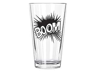 Corkology Boom Comics Pint Glass, Clear
