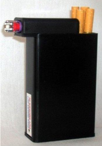 Cigarette Case Black with Built on Lighter Holder Box & Amazon.com: Cigarette Case Black with Built on Lighter Holder Box ... Aboutintivar.Com