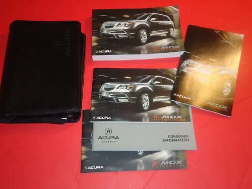 2011 ACURA MDX OWNERS MANUAL BOOK CASE