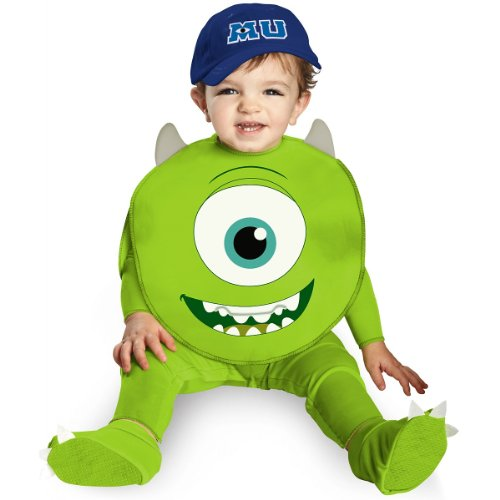 Disguise Costumes Disney Pixar Monsters University Mike Classic Infant, Green/White/Blue, 6-12 (Top 10 Halloween Movie Characters)