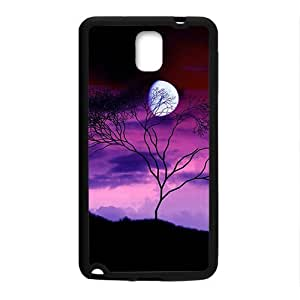 Artistic Tree Purple Sky Moon Phone Case for Samsung Galaxy Note3