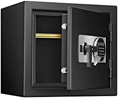 Why Choose This Product?●Improve the anti-theft ability, the door can be opened 180°●Detachable partition●Two open mode settings●Dual alarm system●Large capacity, golden ratioProduct Details:- External dimensions: 375*410*330mm- Internal size...