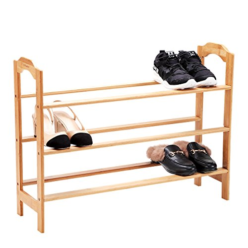 Birch Shoe Rack - New Ridge Home Goods HX-70054 Solid Wood Shelf, One Size, Natural