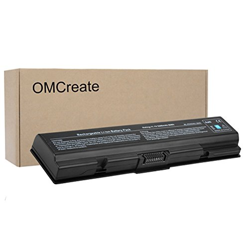 OMCreate New Laptop Battery for Toshiba PA3534U PA3727U-1BRS PA3535U-1BRS PA3534-1BRS PA3533U-1BRS, Toshiba Satellite L305 A200 A205 L505D L500 A350 L555 L505 / Toshiba Dynabook - Satellite L505d Series Battery