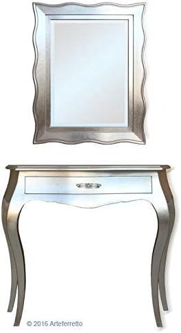 Artigiani Veneti Riuniti Mesa consola y espejo en pan de plata ...