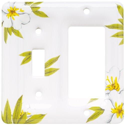 Brainerd 64515 Ceramic Single Switch/Decorator Wall Plate / Switch Plate / Cover, Magnolia