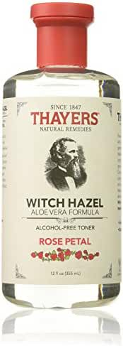 Thayers Alcohol-free Rose Petal Witch Hazel with Aloe Vera, 12 oz