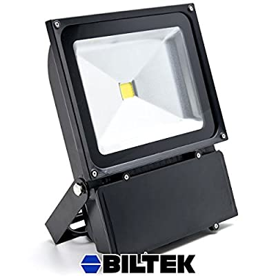 Biltek® 100W LED Flood Light Cool White High Power Outdoor Spotlight Industrial Lighting Home Security Lighting Outdoor House Business Surveillance Safety Wall Washer High Building Ad Billboard Garden