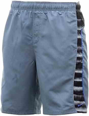 d2bc4ab921 NIKE Men's Contrast Side & Back Blue Graphite Swim Trunk Volley Shorts  Swimwear